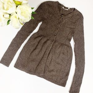 Vince Baby Doll Wool Knit Cardigan